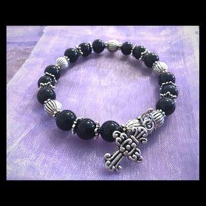Jewelry - Handmade beaded stretch bracelet!